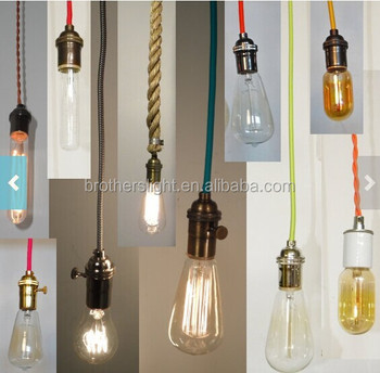 Custom Pendant Lighting Vintage Edison Lamp Modern Chandelier Hardwired Or Swag Plug In