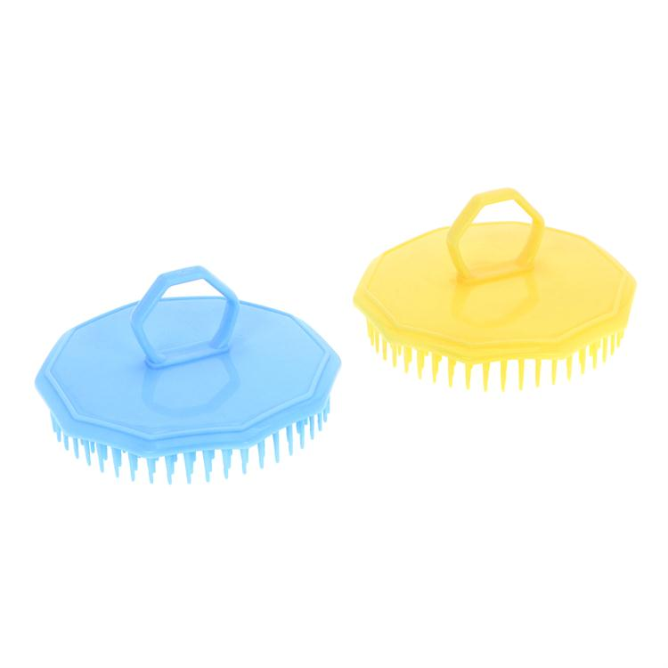 Finger Hole Shower Head Massage Comb Cleanse Hair Shampoo Scalp Brush
