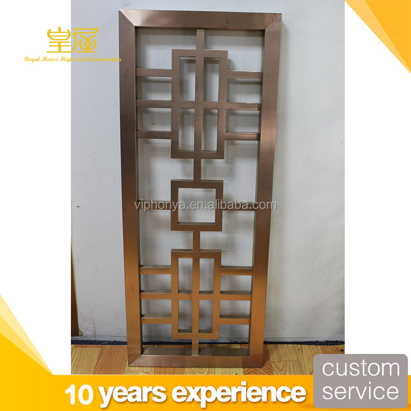 Chinese corten steel garden screen mini folding screen
