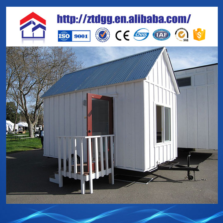 Fast assembly prefabricated steel tiny house with profile roofing sheet