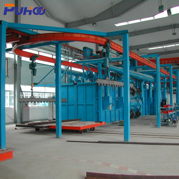 ALIBABA Supplier Hanging Chain Shot Blasting Machine For LPG Cylinder