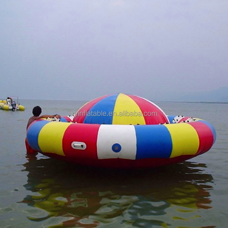 custom inflatable disco boat water toy for sale