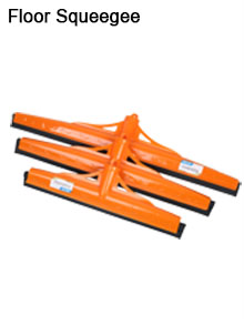 Plastic floor cleaning squeegee with double EVA blade