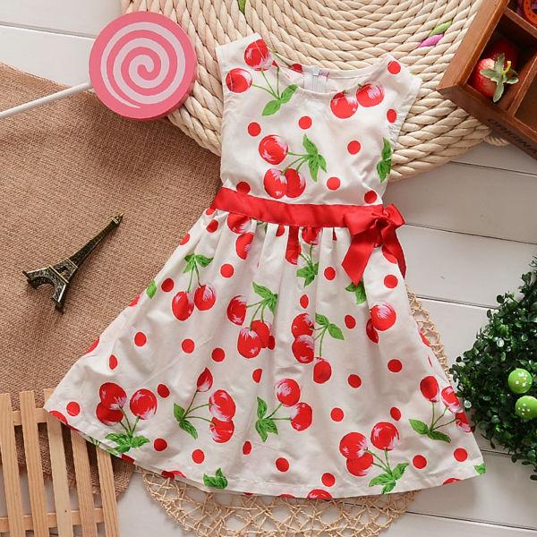 2014 venta caliente punto rojo de algodón niñas vestido casual jk ...