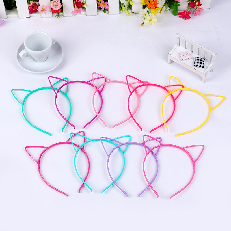 black cat ears head bands kids fashion for Women Girls Hairband Sexy Self Headband party Photo Prop Animal Hair hoop Accessories
