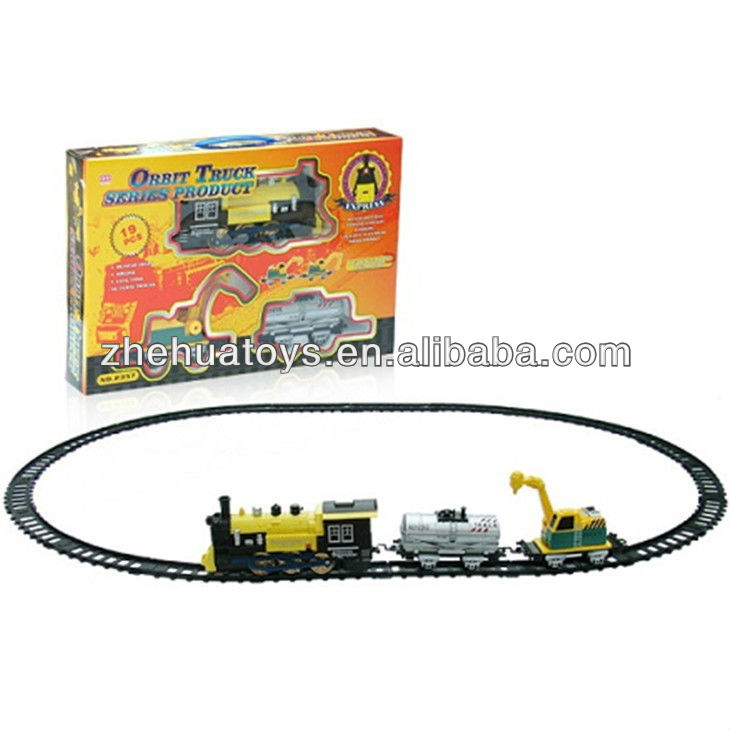 Kids Electric Train track construction vehicles Toy with light,smoke,Christmas Promotion Toys