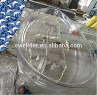 High quality round chandelier lamp shades transparent plastic lampshade cover