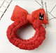 Red Bowknot with Big Eye Cat Headbands for Girls Makeup Face Washing Headband Hairdo Facial Mask Hairband Hair Accessory