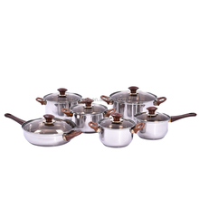 12 PCS Corrosive Resistant SS Cookware Sets Cooking pot Manufacturer Kitchenware for Cooking