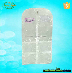 Clear Pvc Garment Bag With Pockets