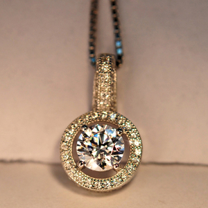 White Zircon 925/Brass/Gold Plated Pendant Any Occasions Women Jewelry
