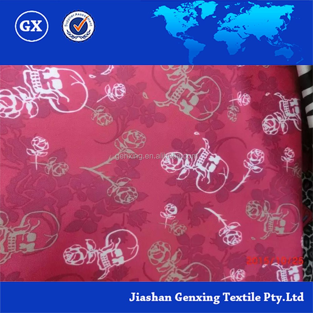 Hot product skull and rose printing teffate fabric on sale