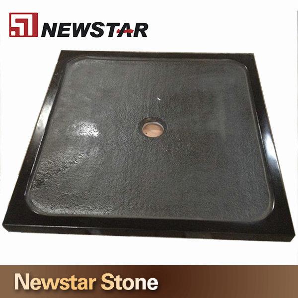 High Quality Black Stone Shower Base,Non Slip Stone Shower Tray ...