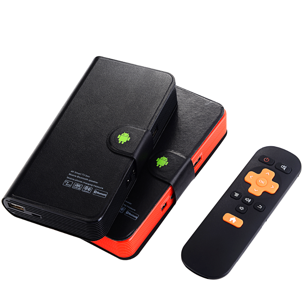 CS668 all in one con BT speaker + power bank + android 6.0 tv box smart box iptv IUDTV QHDTV WSTV per l'arabo Latinos America