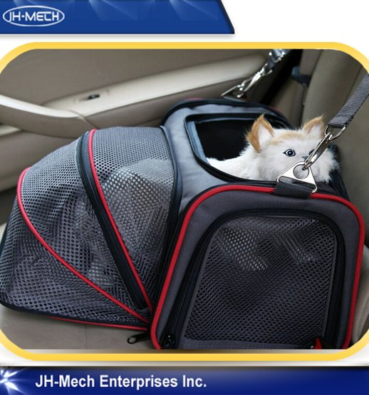 Carry handles Luxury pet carrier airline for car