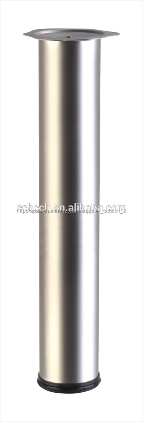 Patas de mesa tubo redondo fashion de acero para mueble de for Patas acero para mesas