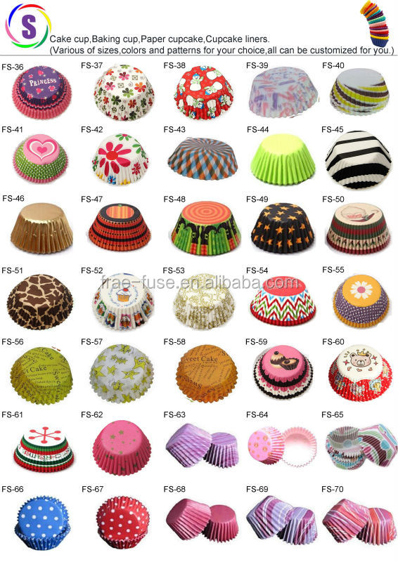 Factory Custom Made Various Of Types Paper Baking Cups