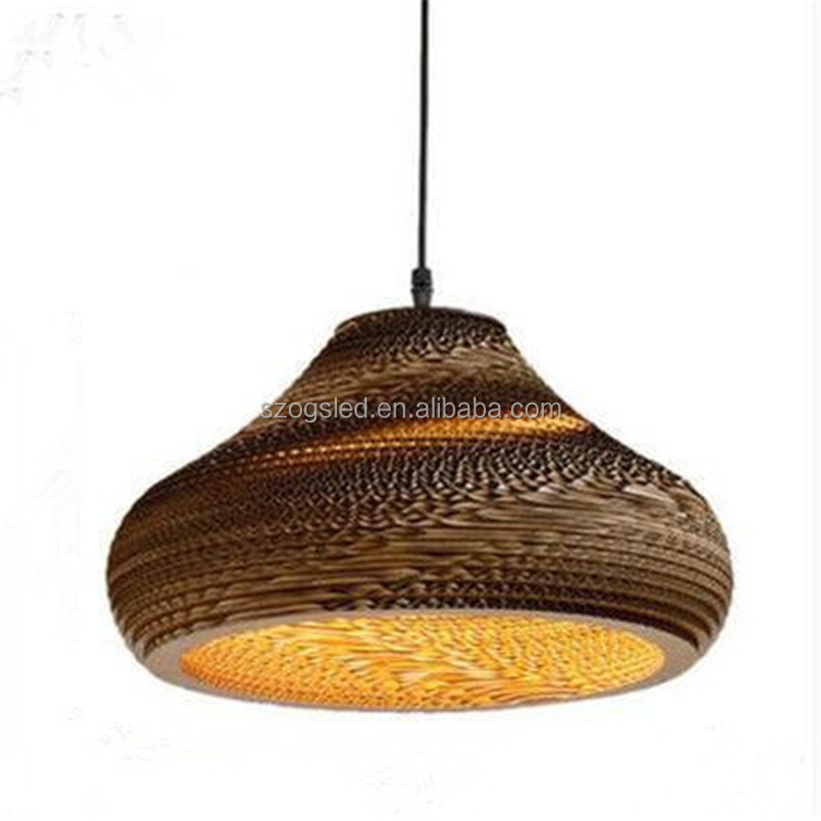 Bamboo Paper Pendant Lamp Shades Lighting For Bar Shade Product On