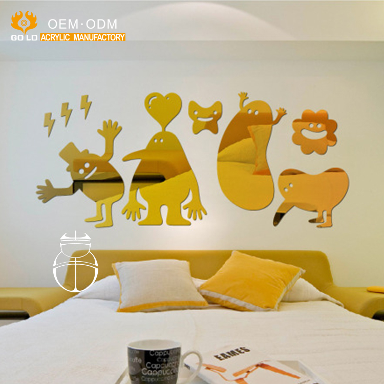 Home Decorative Silver Mirrored Wall Stickers 3d Acrylic/ Gold ...