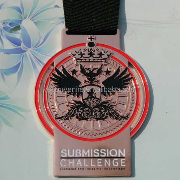 Trophies china custom jiu jitsu sports medal with ribbon