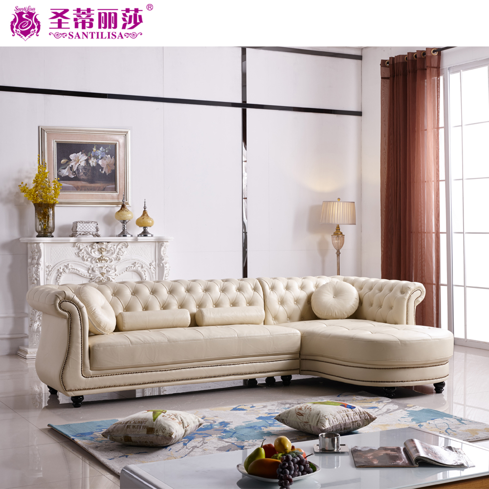 Import Exotic Living Room Corner Chesterfield Leather Divan <strong>Sofa</strong>