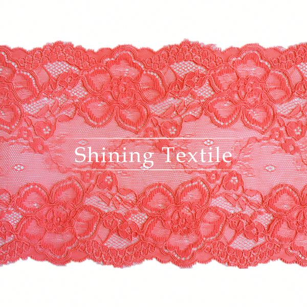 15-20cm Stretch Nylon Spandex Embroidery Lace Stock For Lingerie