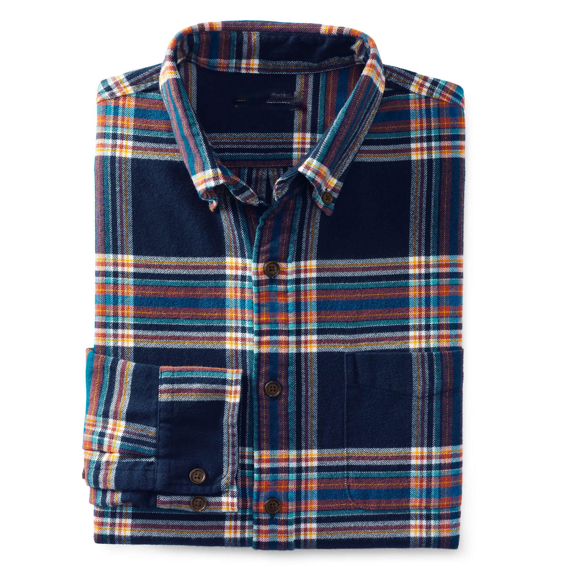 Camisa de franela sin mangas Azul oscuroCuadros HOMBRE