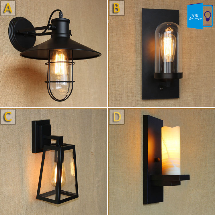 Loft Vintage LED Wall Lamps American <font><b>Industrial</b></font> Wall Light E27 Edison Bulbs Bedside Wall Fixtures <font><b>Home</b></font> <font><b>Decoration</b></font> Lighting