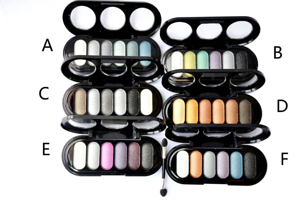 Menow E12007 Cosmetic glitter 6 colors eye shadow pallet