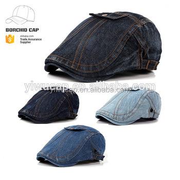 New Style Cheap Denim Beret Ivy Cap - Buy Denim Flat Ivy Cap eed4af3c748