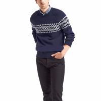 2018 Lasted design custom color winter knitted jacquard Christmas man sweater