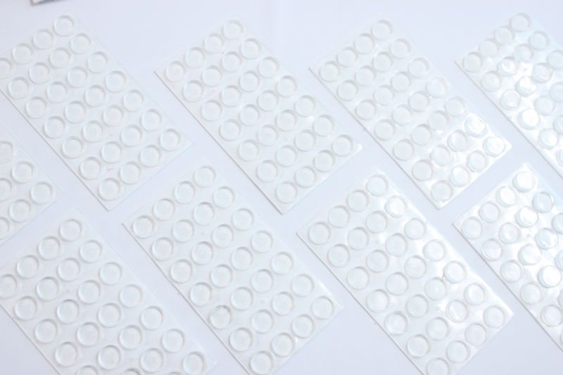 Soft Clear Silicone Anti-slip Rounded Self Adhesive Bumpers