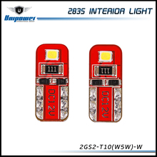 high quality 14v 2835 t10 white 2W 120 lumen canbus led mini Reading lamp car interior led light