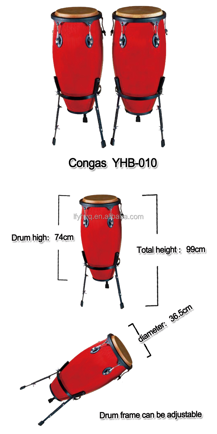 Chinese style red wood drum Traditional instrumentsmusical instrument online, bongo conga drum