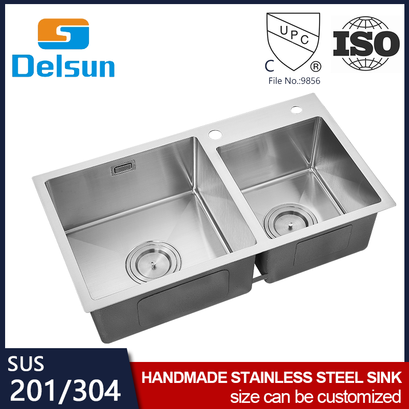 High Grade Material Stainless Steel Hand Made Black Kitchen Sink