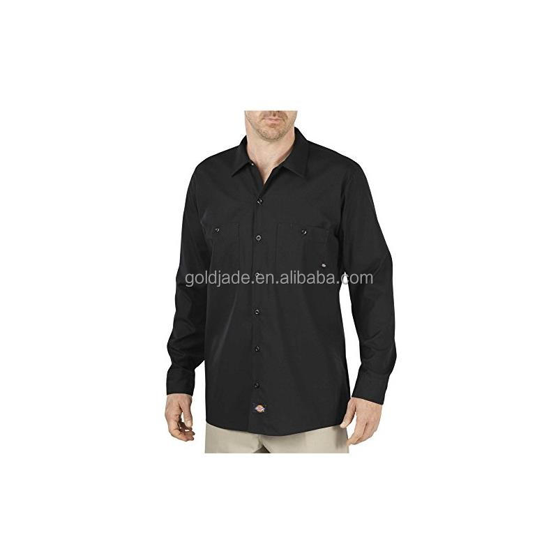 Men's Long Sleeve Pocketed Industrial Cotton Work Shirts