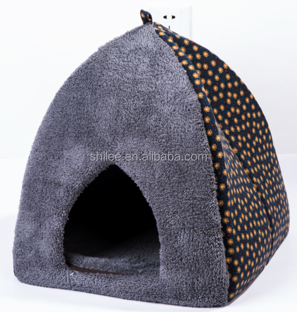 Cone shape foldable Cat house/dog beds with mat