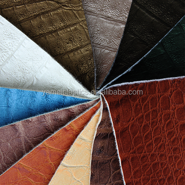 Hot Sale PVC Synthetic Spray Printed Leather for Bag, Furniture and Decoration