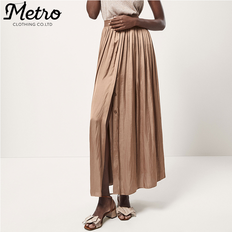 Fashion Long Flowing Pleated A-line Skirts