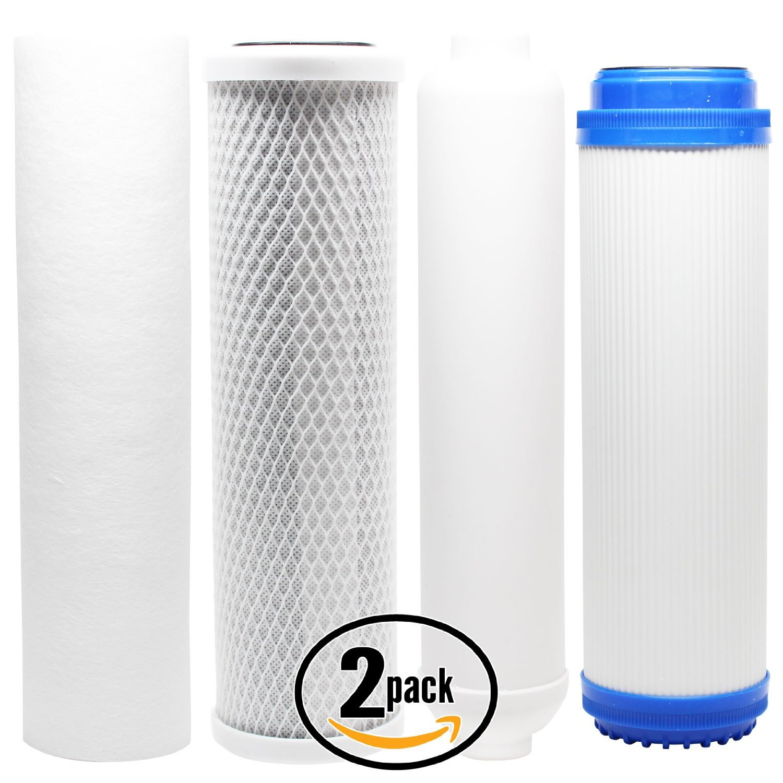 2-Pack Denali Pure Universal 10 inch Carbon Block, Sediment, GAC, Inline Filter - Compatible with iSpring RCC7P-AK, iSpring RCC1UP-AK, AMPAC USA APRO4, AMPAC USA APRO5, AMPAC USA APRO-ALK