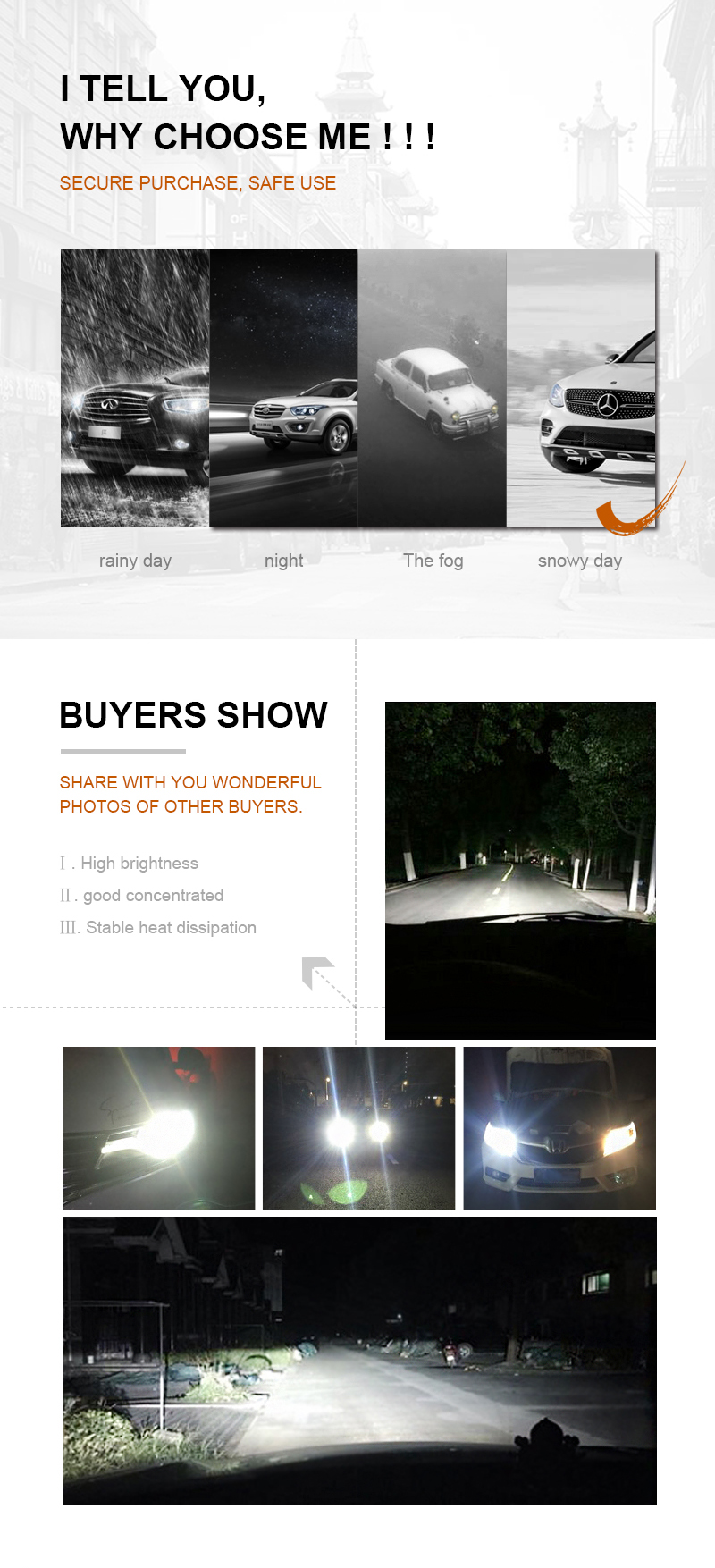 EURS H7  Led H4 CSP led auto headlight H11 led H1 H3 HB3 HB4 50W 8000LM Led Head Lamp S1 12V 24V