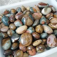 Wholesale Natural Colourful Ocean Jasper Palm Stone Healing Polished Crystal Stone For Sale