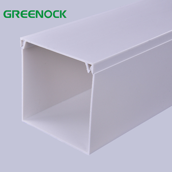 Large plastic pvc casing trunking 100x50 electrical cable channels pvc wiring for decorative cable trunking