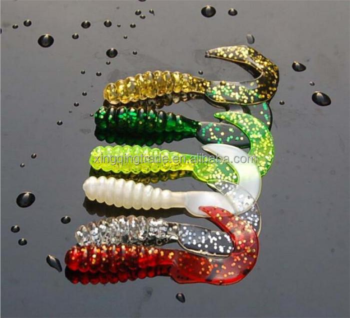 Maggot Grub Soft Jelly Imitation Hook Bait Fishing Tackle Mixed Sinking 20mm