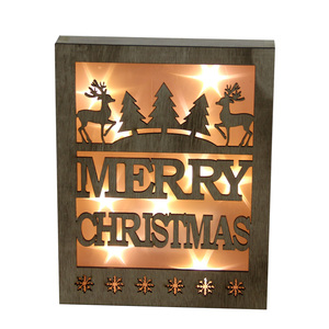 10L warm white LED MERRY CHRISTMAS frame home ornaments