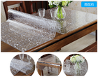 canton fair waterproof oilproof soft vinly tablecloth transparent embossed pvc table cloth in roll