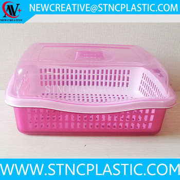 Cutlery storage plastic box with lid and tray rectangular for Cutlery storage with lid