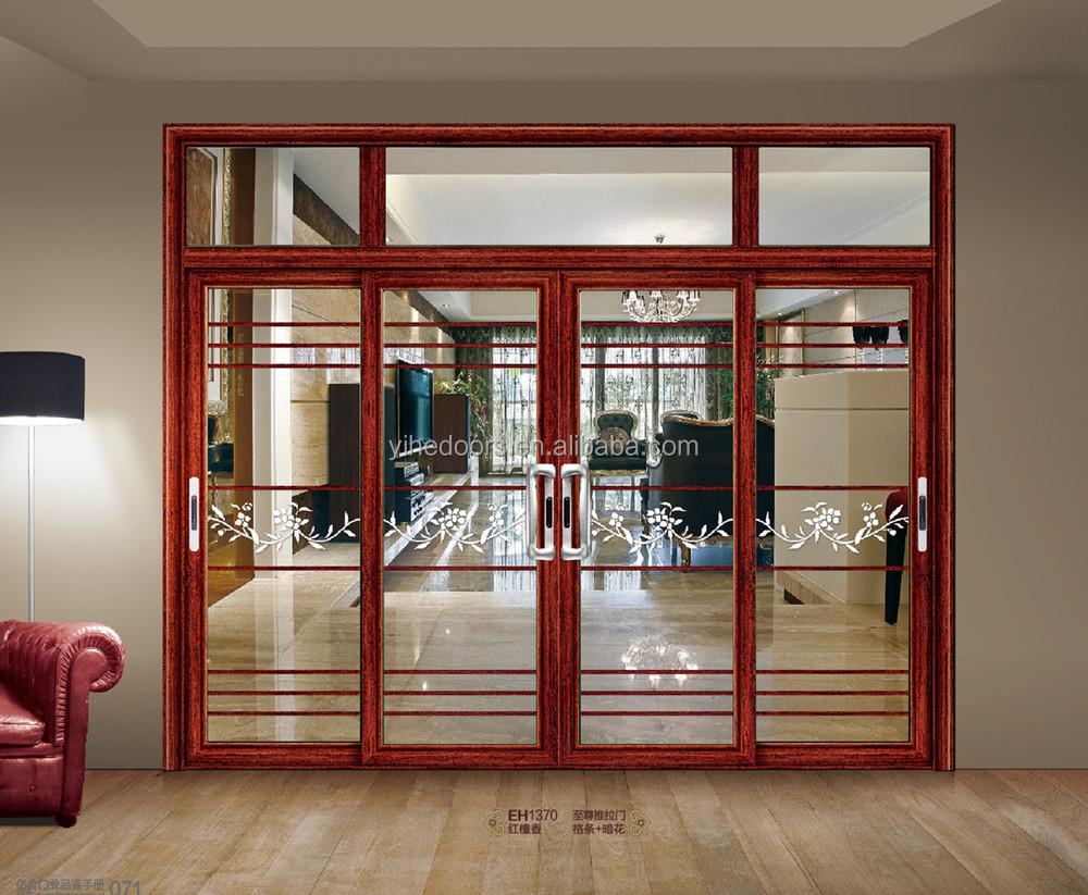 Modern Design Double Glazed Lowes Glass Interior Aluminium Sliding