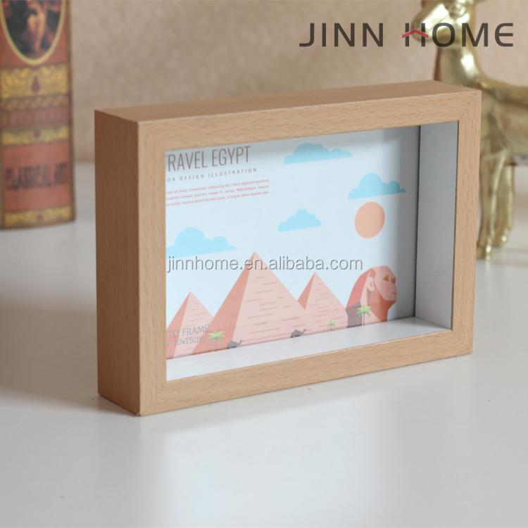 Professionelle Herstellung Weiß Holz 3d Tiefer Shadow Box ...