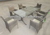 Wicker Metal Frame Patio Furniture/ Metal Dining Table And Chair